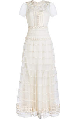 RED Valentino Embroidered Lace Maxi Dress