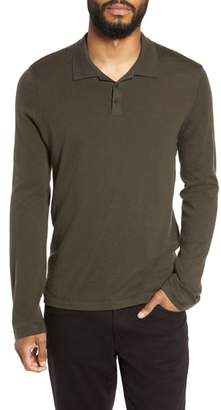 Vince Regular Fit Long Sleeve Wool & Cashmere Polo