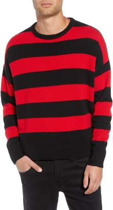 The Kooples Shredded Stripe Sweater