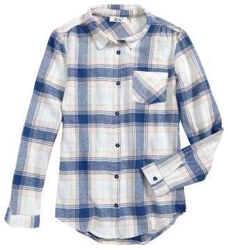 Dex Plaid Flannel Shirt (Big Girls)