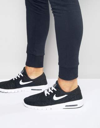 best authentic 70a5b 663d3 Nike Sb SB Stefan Janoski Max Sneakers In Black 631303-010