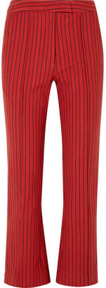 Rosie Assoulin The Scrunchy Striped Cotton-blend Jacquard Flared Pants - US6