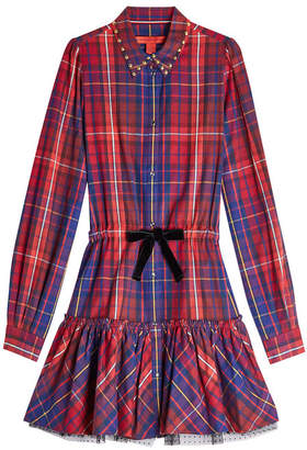 Tommy Hilfiger Cotton Mini Dress with Tulle
