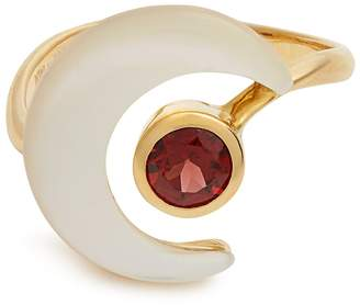 Mother of Pearl ARA VARTANIAN X Kate Moss garnet, mother-of-pearl & gold ring