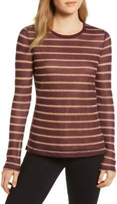 MICHAEL Michael Kors Metallic Striped Pullover