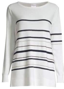 TSE x SFA Cashmere Chain Stripe Long Sleeve Sweater