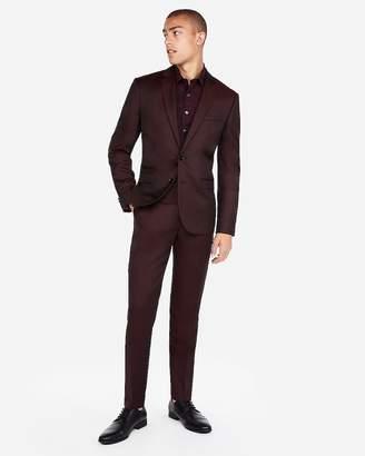 Express Slim Burgundy Luxury 100% Wool Suit Jacket