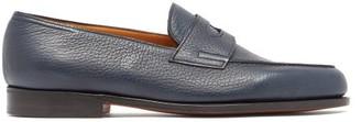 John Lobb Lopez Leather Penny Loafers - Mens - Blue