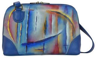 Anuschka Northern Lights Zip-Around Leather Organizer Shoulder Bag