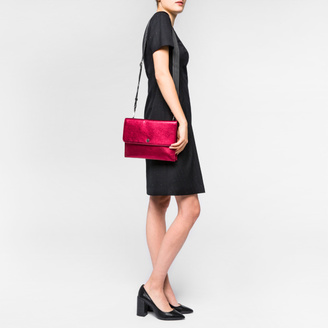 Women's Metallic Red Leather Cross-Body Bag $395 thestylecure.com