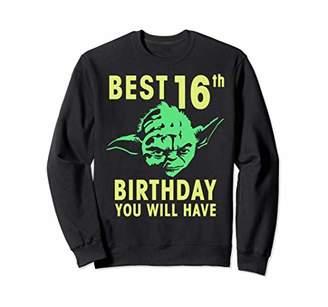 Star Wars Yoda Best 16th Birthday You Will Have Stencil Sweatshirt
