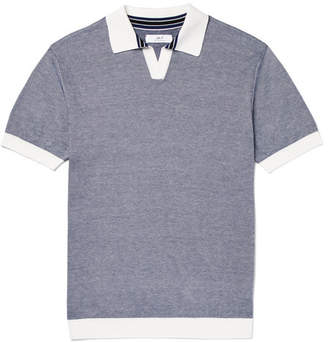 Mr P. Knitted Cotton-Piqué Polo Shirt