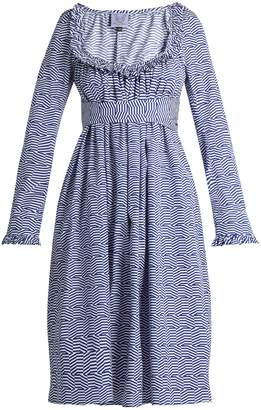 Thierry Colson Geometric-print cotton-poplin dress