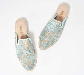 Sesto Meucci Floral and Jute-Wrapped Mule