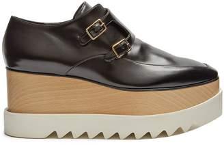 Stella McCartney Elyse monk-strap faux-leather platform shoes