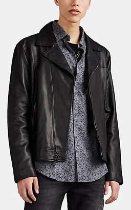John Varvatos Men's Leather Biker Jacket - Black