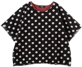Ne-net (ネ ネット) - ネ・ネット / pickable dots tulle & T / Tシャツ