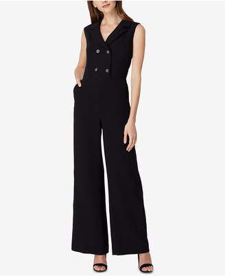 Tahari ASL Double-Breasted Jumpsuit, Regular & Petite