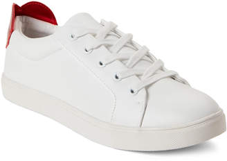 Betsey Johnson White Tilly Heart Low-Top Sneakers