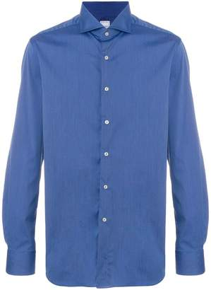 Xacus spread collar long sleeve shirt