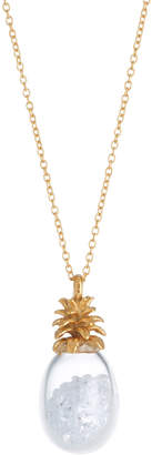 Catherine Weitzman Pineapple Shaker Necklace, White CZ