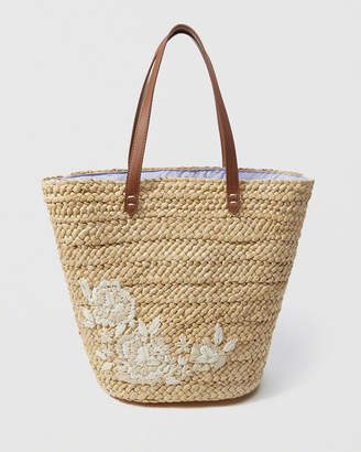 Abercrombie & Fitch Embroidered Tote