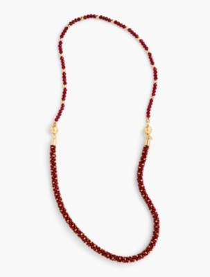 Talbots Faceted Bead Layer Necklace