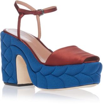 Marco de Vincenzo Braided Satin Platform Sandal $800 thestylecure.com
