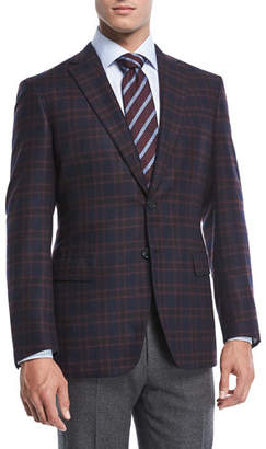 Brioni Cashmere Plaid Jacket