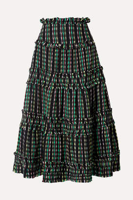dc00779ac3 Proenza Schouler Tiered Tweed Maxi Skirt - Black