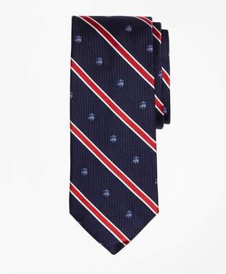 Brooks Brothers BB#2 Rep Stripe Tie with Golden Fleece