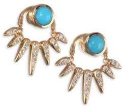 Nikos Koulis Spectrum Diamond and Turquoise Jacket Earrings