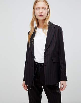 B.young Stripe Suit Blazer