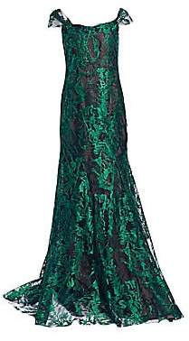 Rene Ruiz Collection Women's Off-The-Shoulder Lace Gown
