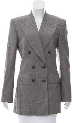 Chloé Peaked-Lapel Double-Breasted Blazer