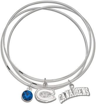 Logoart LogoArt Montreal Canadiens Silver Tone Bangle Bracelet Set