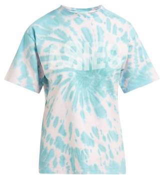 Aries Logo Print Tie Dye Cotton T Shirt - Womens - Pink Multi