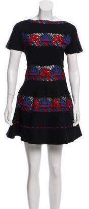 Valentino Embroidered Mini Dress