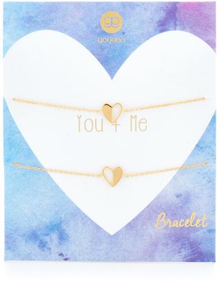 Gorjana You + Me Heart Bracelet Set $70 thestylecure.com
