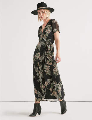 Lucky Brand FLORAL MAXI WRAP DRESS