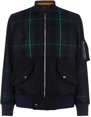 Paul Smith Tartan Wool Bomber Jacket