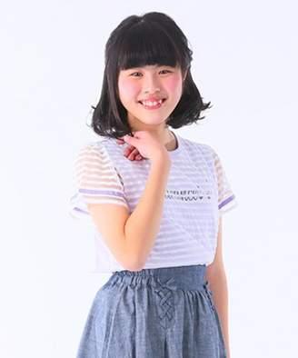 Kumikyoku (組曲) - 組曲KIDS 【150~170cm】シースルーデザイン カットソー