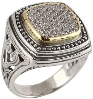 Konstantino Women's Asteri Pavé White Diamond, 18K Yellow Gold and Sterling Silver Ring
