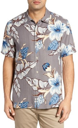 Men's Big & Tall Tommy Bahama San Paolo Blooms Silk Camp Shirt $148 thestylecure.com