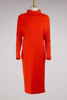 Jil Sander Wool and Cashmere Midi Dress