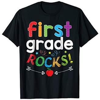 First Grade Rocks T-Shirt Funny 1st Graders & Teachers