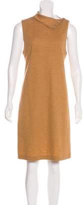 Ralph Lauren Sleeveless Wool Knee-Length Dress