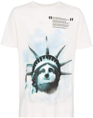 Off-White Liberty print cotton t shirt