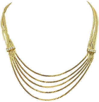 One Kings Lane Vintage Five-Layer S Chain Swag Necklace