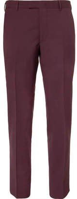 Prada Slim-Fit Cropped Virgin Wool And Mohair-Blend Trousers